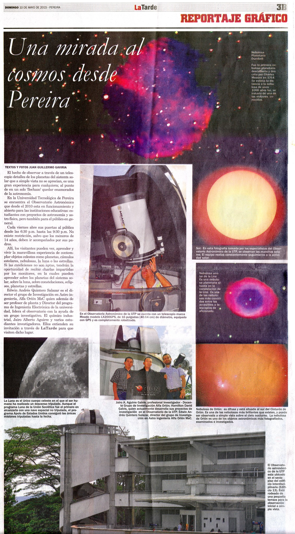 Imagen de pagina completa del Periodico La Tarde