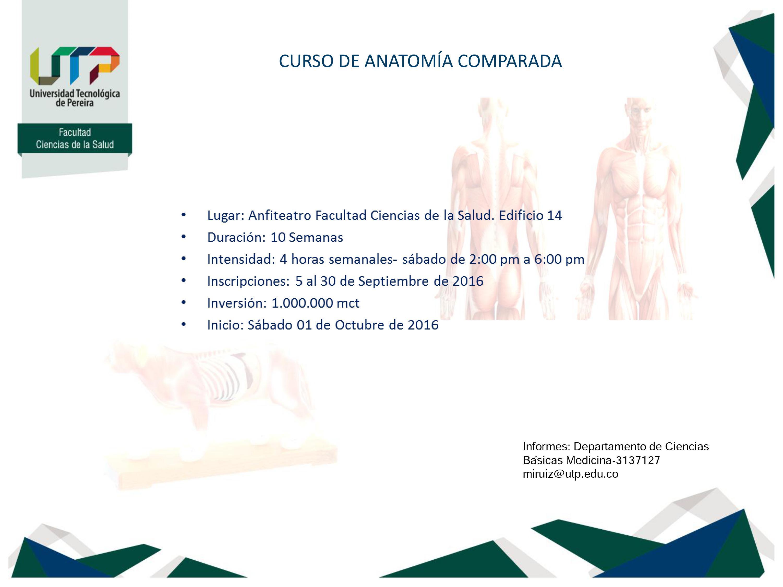 Medicina :: CURSO DE ANATOMÍA COMPARADA